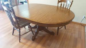 100 Oak Pedestal Table And Chairs Best Tell City Solid Dining Room With 4