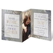 Rustic Wedding Invitations Tree Rings Photo Invitation