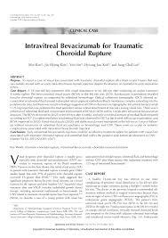 PDF Intravitreal Bevacizumab For Traumatic Choroidal Rupture