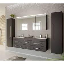 badezimmer spiegelschrank 140cm newland 02 inkl led acrylle leuchtboden anthrazit seidenglanz b h t 140 63 5 17 22 cm