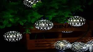 solar string lights outdoor globe lights by icicle 20ft 30 led 8