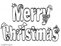 Merry Christmas Letter Coloring Page