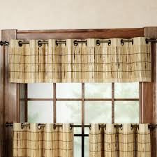 Nicole Miller Home Two Curtain Panels by Bamboo Grommet Tier And Valance Window Treatment