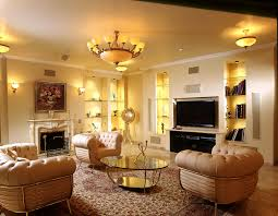 Living Room Mesmerizing Neutral Colored Classic Designs Decoration Installed With Cream Sofa And