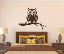 Owl On Branch Vinyl Decal Wall Sticker Mural Nursery Teen Room