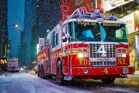 100 New York Fire Trucks Engine In The Snow Fighter Trucks