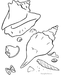 Coloring Sheet Of The Beach