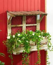 Rustic Drawer Wooden Hanging Wall Planter Garden Flower Pot Country Farmhouse