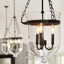 Rustic Vintage Pendant Ceiling Light Glass Lampshade DIY Chandelier Foyer Lamps