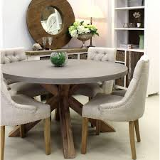 Round Concrete Dining Table Urban Beach Lifestyle