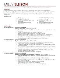 Building Contractor Resume General Job Description Self Employed