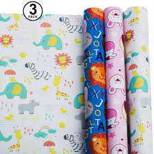 Amazoncom Wrapping Paper Baby Wrapping Paper Set Animal Zoo