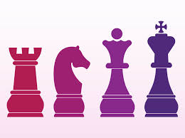 Vector Graphics Of Different Chess Pieces Bright Colored