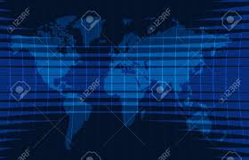 News Background Breaking Newsvector Infographic With Theme Map Of The World