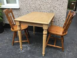 SMALL PINE COTTAGE KITCHEN TABLE AND 2 CHAIRS | In Tadworth, Surrey |  Gumtree