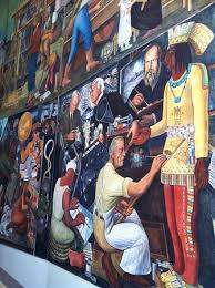san francisco institute patio picture of diego rivera mural