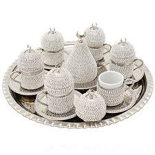 Coffee Cup Set Dallah Arabic Turkish Cups Glass Espresso Copper