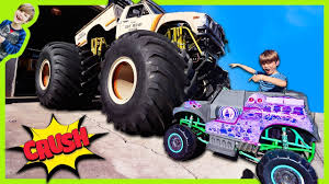 100 Monster Truck Power Wheels POWER WHEELS GRAVE DIGGER MONSTER TRUCK CRUSHED BY REAL MONSTER