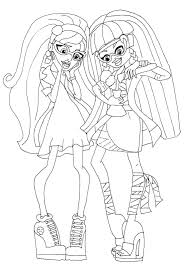 Monster High Cleo And Ghoulia Mad Science Coloring SheetsColoring