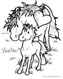 Pony Color Page Horse Animal Coloring Pages Plate
