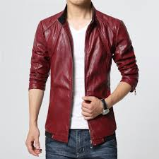 online buy wholesale red leather jacket mens from china red