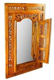 wandspiegel gross 100 cm holz altholz antik wand spiegel badezimmer flur diele