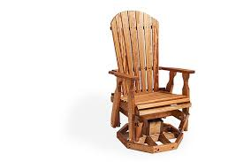 amish wood fan back swivel outdoor glider chair from dutchcrafters