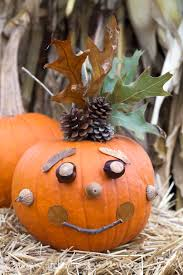 Cute Carved Pumpkins Faces by Hello Wonderful 13 Artsy No Carve Pumpkin Ideas To Try With The