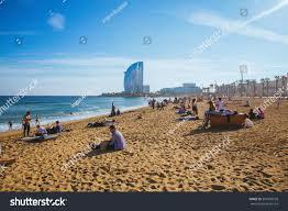 100 Barcelona W Hotel Busy Beach Amazing Stock Photo Edit Now