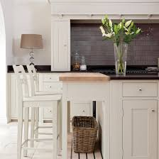 View Full Size Lovely Kitchen With Off White Cabinets Black Quartz Countertops