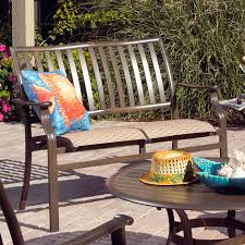 Stack Sling Patio Chair Turquoise by Panama Jack Island Breeze Slatted Aluminum 42 In Round Patio
