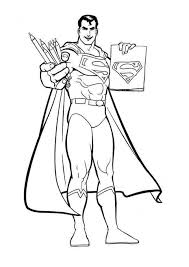 Printable Coloring Sheet Superman For Kids