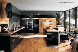 cuisine bois design cuisine noir et noyer photos de design d intérieur et décoration