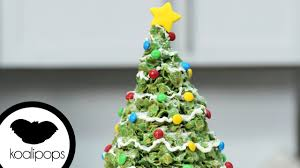 Rice Krispie Christmas Tree Pops by How To Make Marshmallow And Cornflakes Giant Christmas Tree Treats