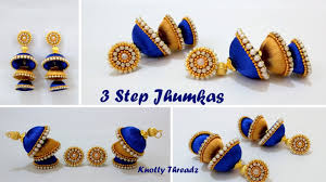 DIY | How To Make Double Coloured 3 Step Jhumkas In A Very Easy ... How To Make Pearl Bridal Necklace With Silk Thread Jhumkas Quiled Paper Jhumka Indian Earrings Diy 36 Fun Jewelry Ideas Projects For Teens To Make Pearls Designer Jewellery Simple Yet Elegant Saree Kuchu Design At Home How Designer Earrings Home Simple And Double Coloured 3 Step Jhumkas In A Very Easy Silk Earring Bridal Art Creativity 128 Jhumka Multi Coloured Pom Poms Earring Making Jewellery Owl Holder Diy Frame With