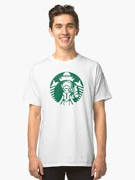 Alolan Starbucks Green Outline Classic T Shirt