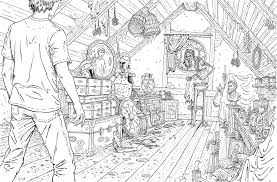 The Coloring Book Tells Entire Story From Lightning Thief In Beautiful Line Art Its Worth Getting Even If You Never Break Out Crayons