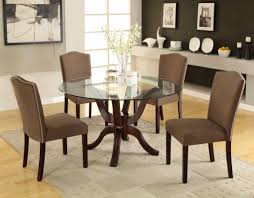 Ideas Of 94 Most Marvelous Goodly Design Round Glass Dining Table Dark Stunning Set Sale