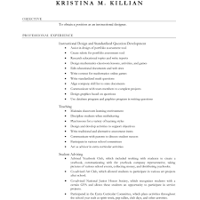 Resume Resume For Teaching Position