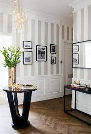 Striped Wallpaper In Dining Room Entryway Bing Images