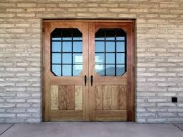 Rustic Style Double Entry Doors