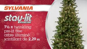 Home Depot Pre Lit Christmas Trees by 7 5 U0027 Pre Lit Christmas Tree With Twinkling Lights Youtube