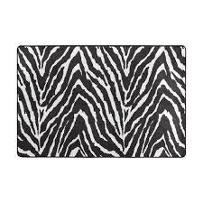 Amazoncom Vantaso Soft Foam Rugs Non Slip Black White Zebra Print