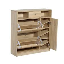 Baxton Simms Shoe Cabinet by Amazon Com Homcom Shoe Cabinet Pull Out Door U0026 Drawer Organizer