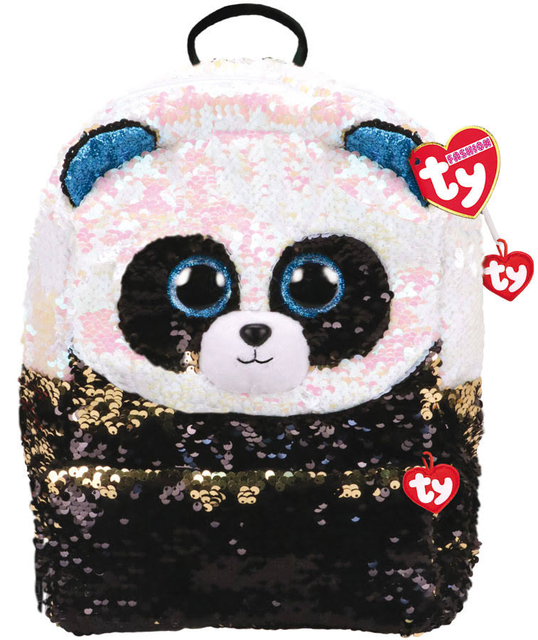 Ty Bamboo Panda Sequin Backpack