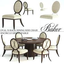 Oval Back Dining Chair Baker X Side Printable