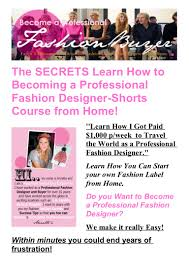 The Secrets Learn How To Becoming A Professional Fashion Designer Sho… How To Create Your Own Fashion Collection Youtube Draw Anime Body Female Printable Step By Drawing Emejing Learn Fashion Designing At Home Images Decorating Design Best 25 Zipper Ideas On Pinterest Tutorial Zippers And I Wanttodo Moments From Beauty Style Thats Sustainable A New Tfashion Formula Mckinsey Letters For Dental Assistant Thank You Letter Cert Cover Cut Sew Brooklyn Accelerator Myfavoriteadachecom Want Study Jewellery Lemark Institute Of Art Drawing Design Sketching 101 Become A Designer
