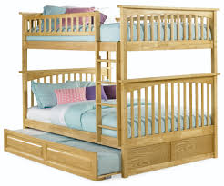 Wooden Bunk Beds with Mattresses Included