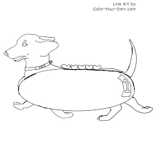 Dog Dachshund Racing Elegant Coloring Pages
