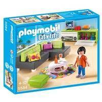 playmobil 5584 city wohnzimmer modernes real de